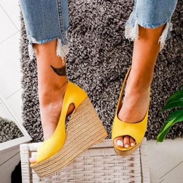 Limoya Sandalet Sarı